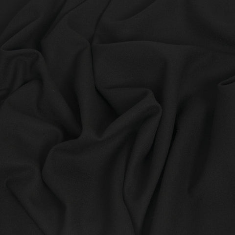 Black Wool Crepe 421 - Fabrics4Fashion