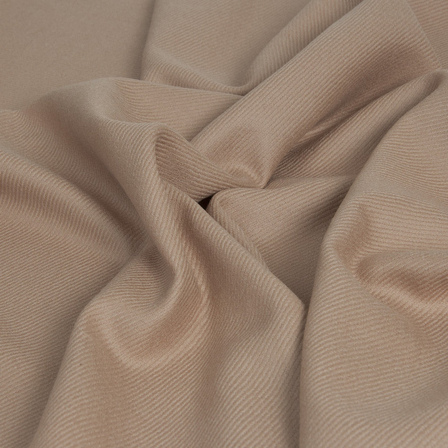 Tan Beige Twilled Wool 423Woven