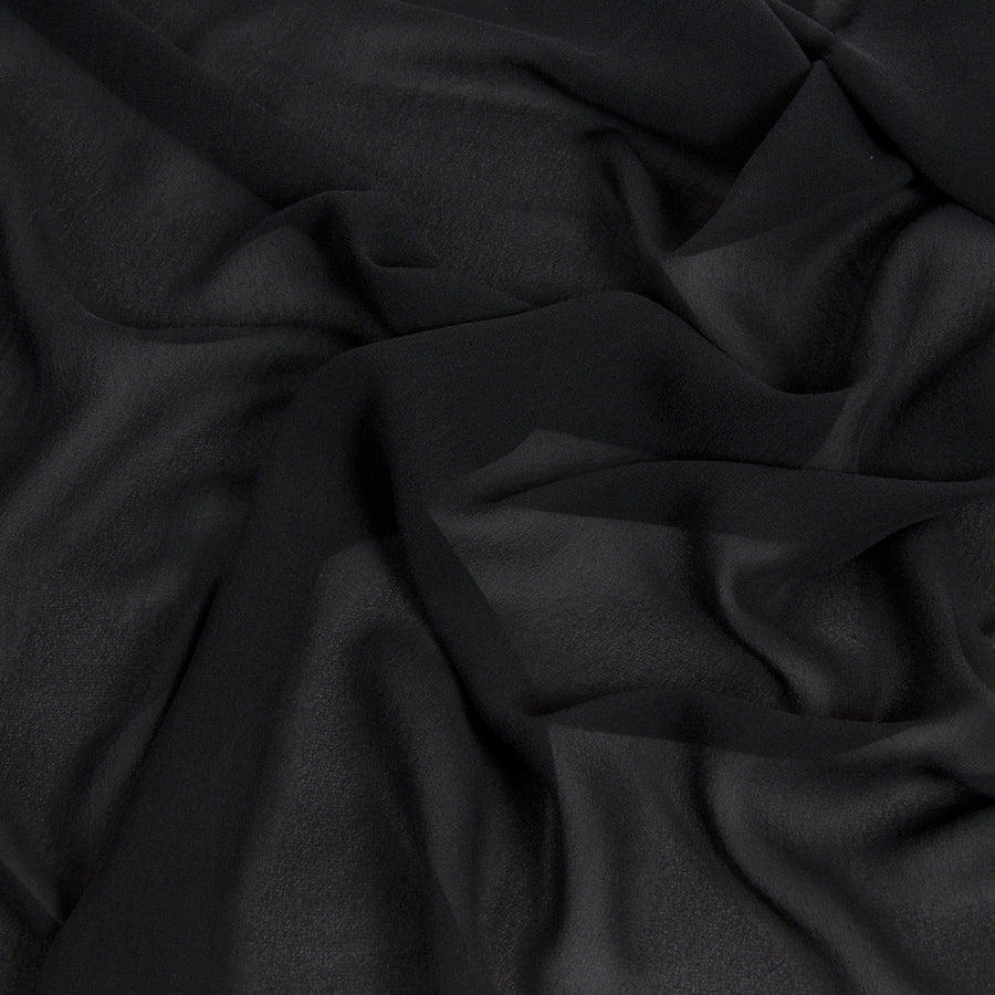 Black Crepe Georgette 424 - Fabrics4Fashion