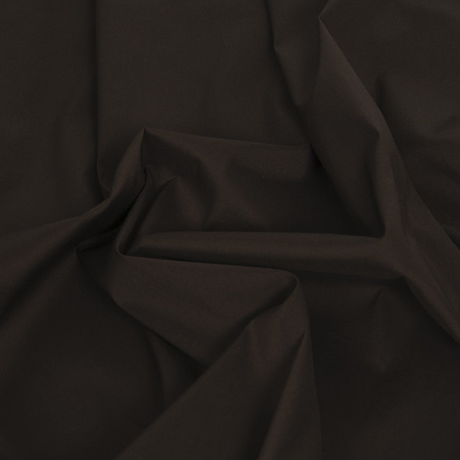 Chocolate Brown Stretch Poplin 434 - Fabrics4Fashion