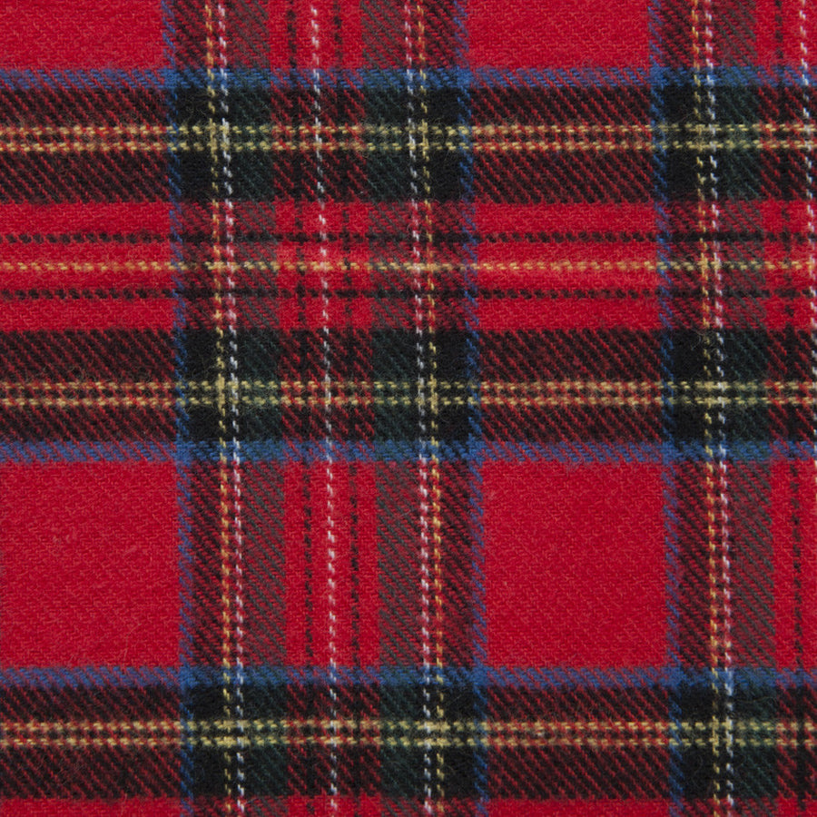 Red Tartan Cotton Flannel 445Woven