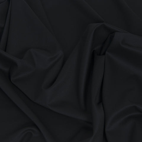 Black Plain Suiting Wool 450 - Fabrics4Fashion