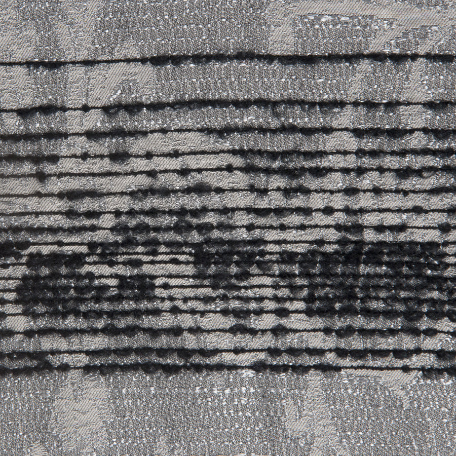 Black / Silver Jacquard 460 - Fabrics4Fashion