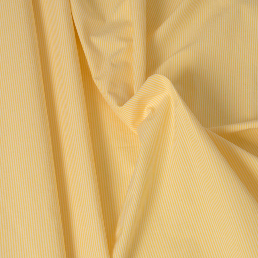 Yellow and White Stripe Cotton 3456