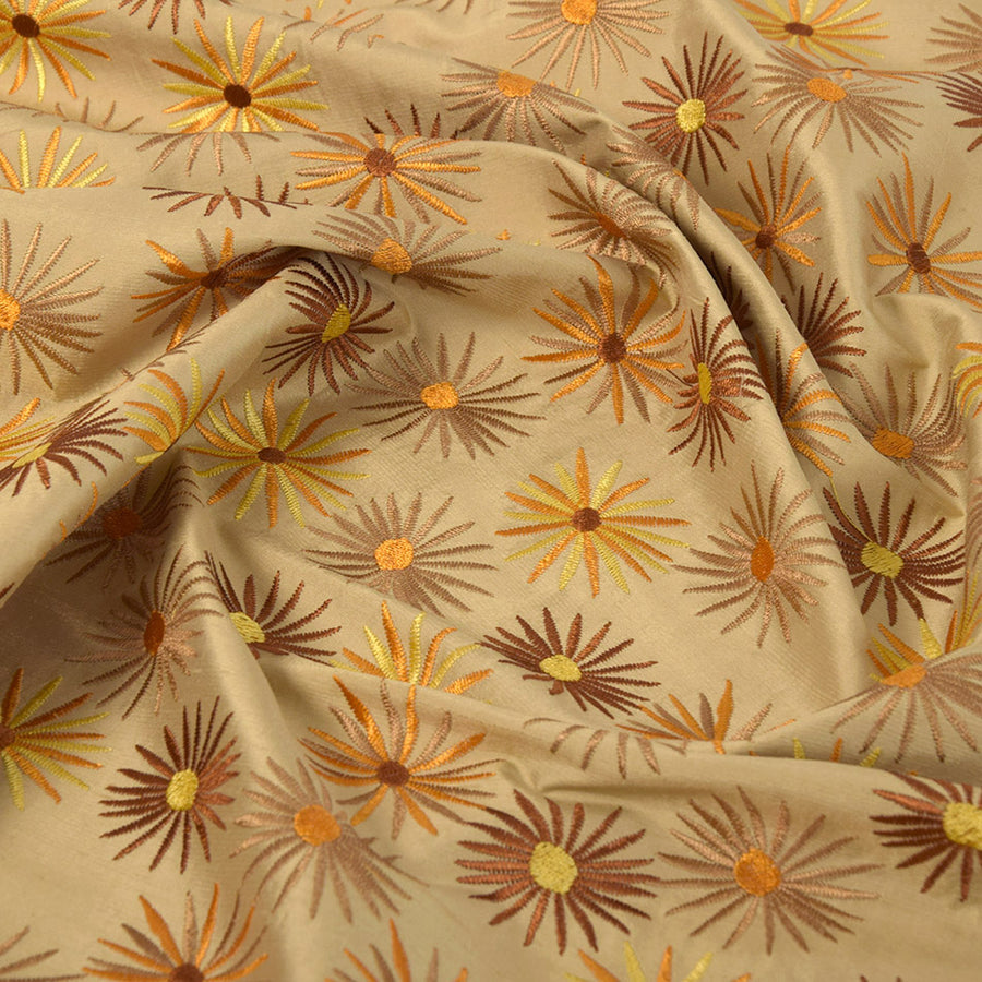 Floral Embroidered Silk 5028 - Fabrics4Fashion