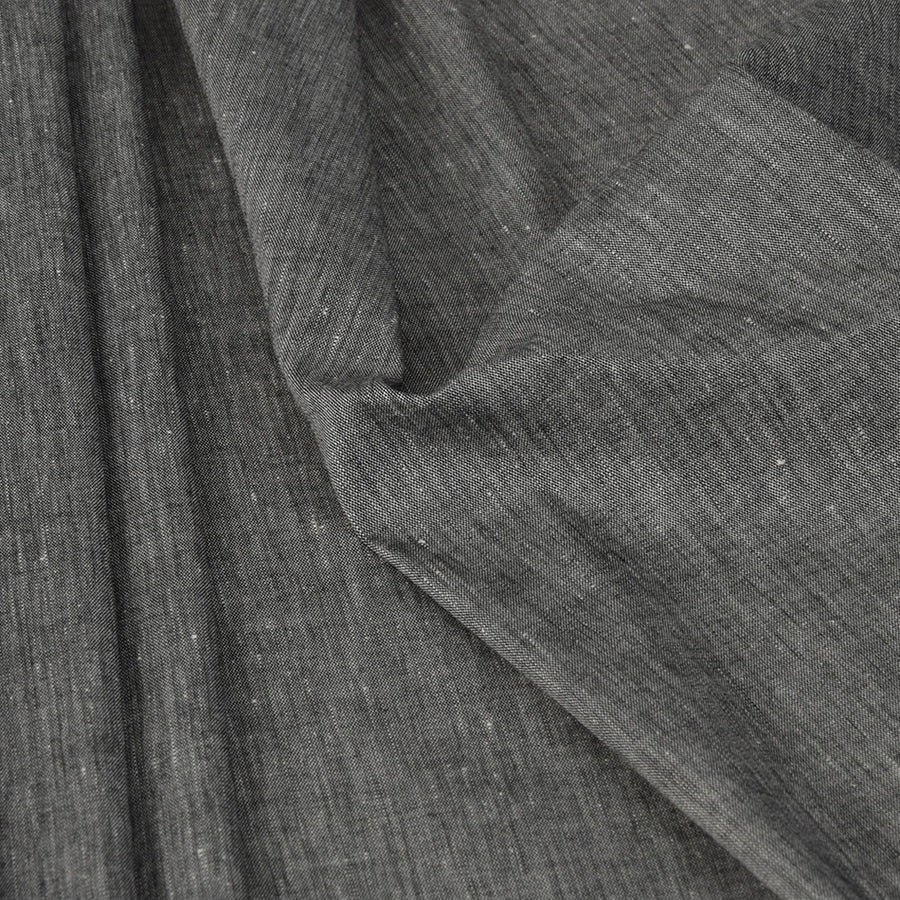 Charcoal Chambray Stretch Linen 3505 - Fabrics4Fashion