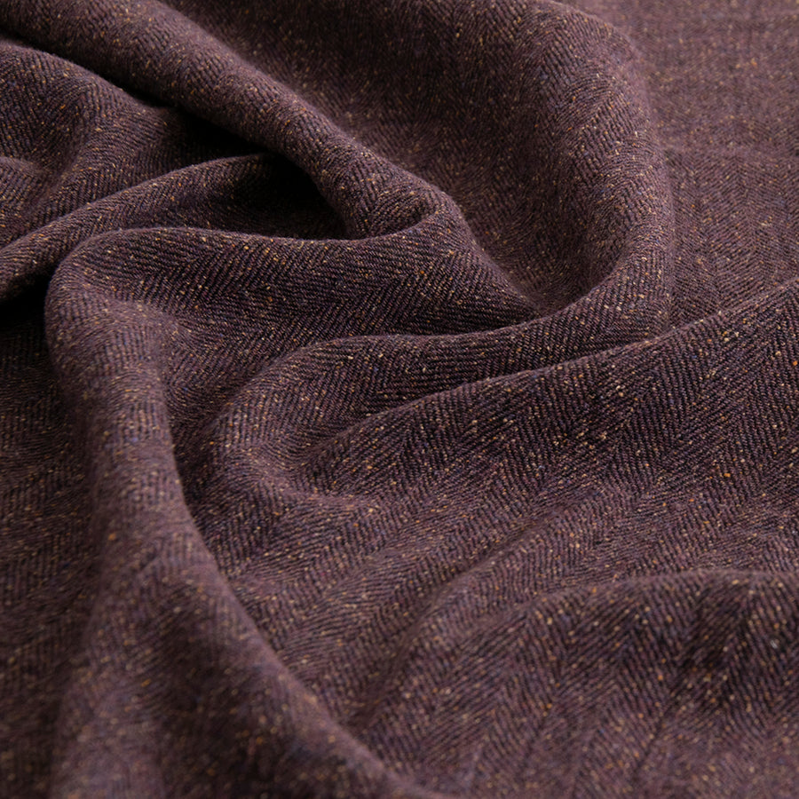 Purple Herringbone Tweed 5263