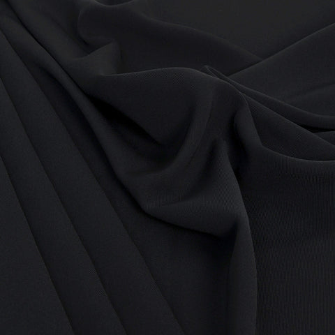 Black Poly Twill Fabric 53 - Fabrics4Fashion