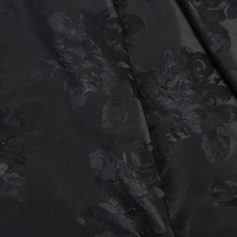 Mid-Weight  Satin Floral Jacquard 57Woven