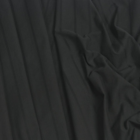 Tone on Tone Striped Black Cotton 62Woven