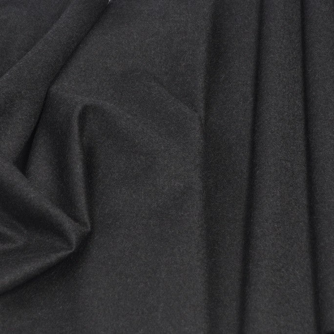Dark Grey Suiting Flannel 64 - Fabrics4Fashion