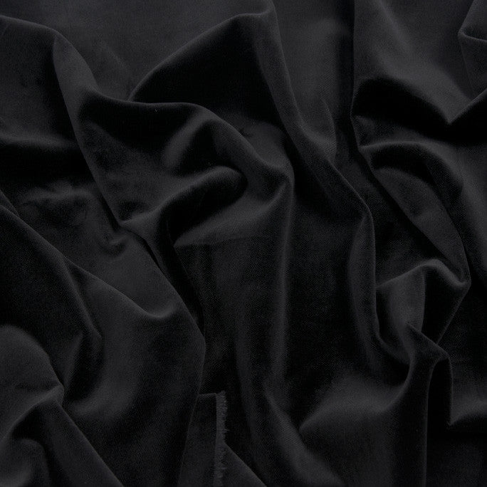 Black Crystal Velvet  648 - Fabrics4Fashion