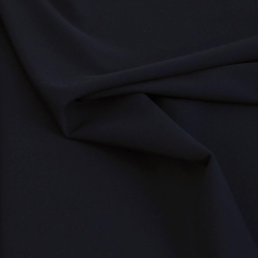 Navy Blue Poly / Viscose Bi-stretch Fabric 2442 - Fabrics4Fashion