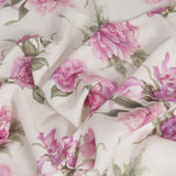 Floral Viscose/Linen Fabric 817 - Fabrics4Fashion