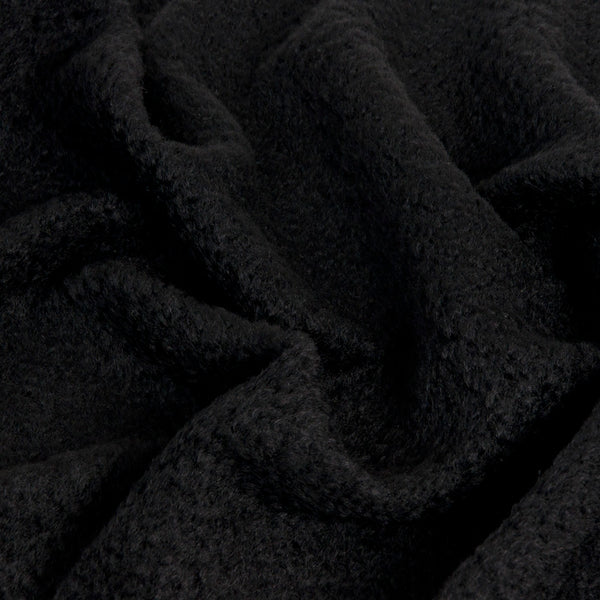 Black Coating Curly Wool 1461 - Fabrics4Fashion