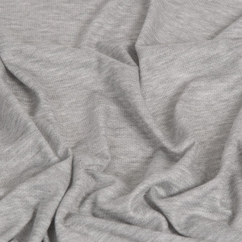 Grey Melange Jersey 908 - Fabrics4Fashion