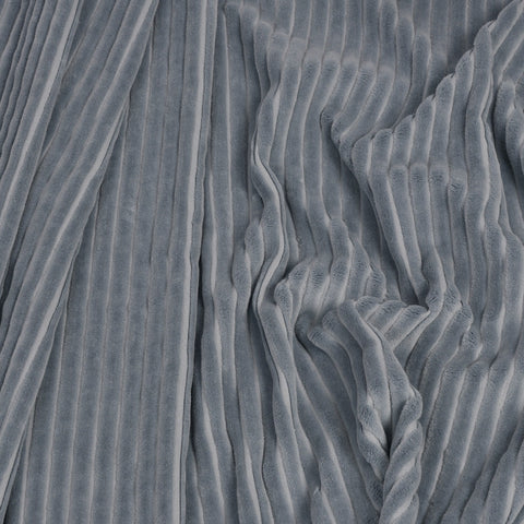 Grey Corduroy 100% Cotton 919 - Fabrics4Fashion