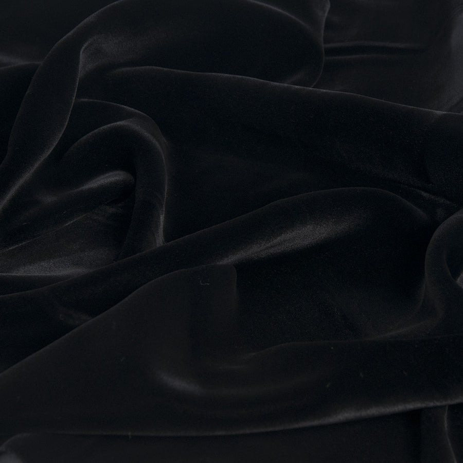 Black Shiny Velvet 923 - Fabrics4Fashion