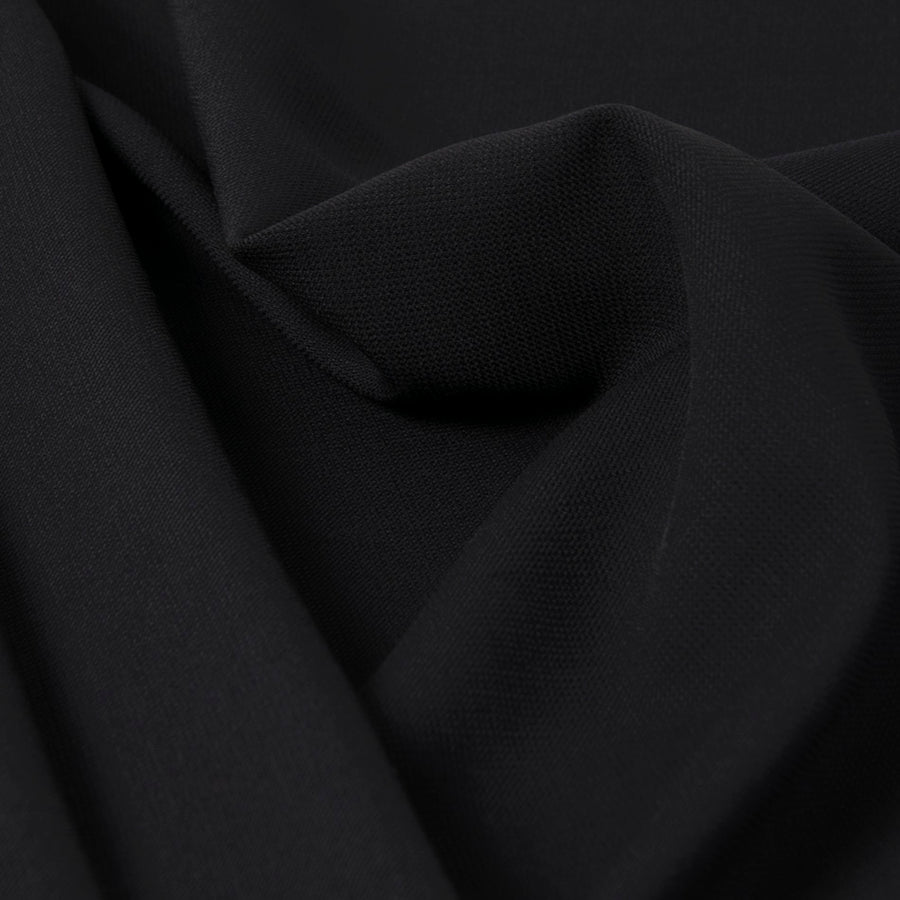 Midnight Blue Stretch Wool Crepe Fabric 2746Woven