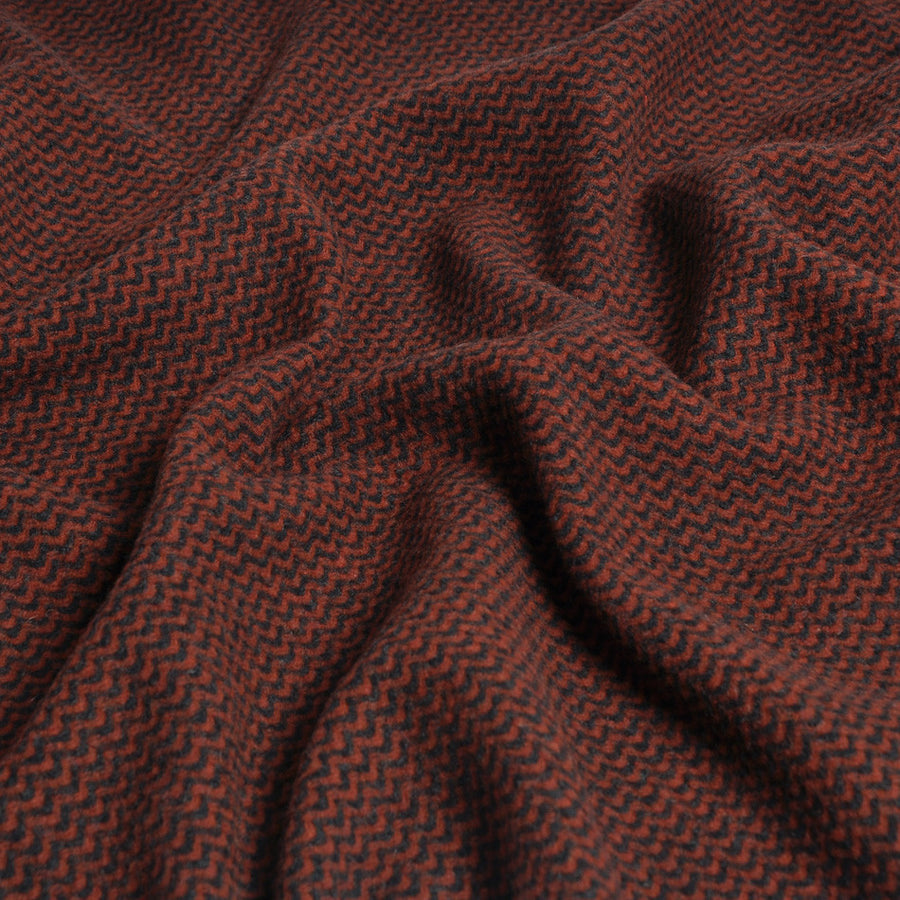 Red/Black Wave Pattern knit 941Woven