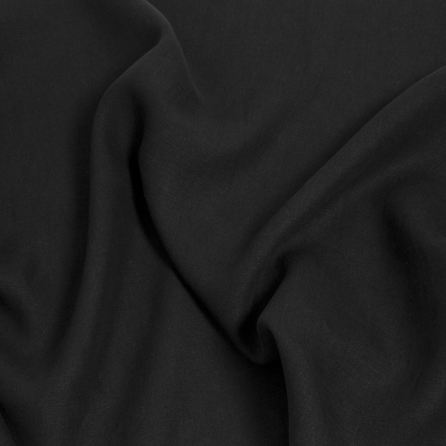 Black 100% Linen 947 - Fabrics4Fashion