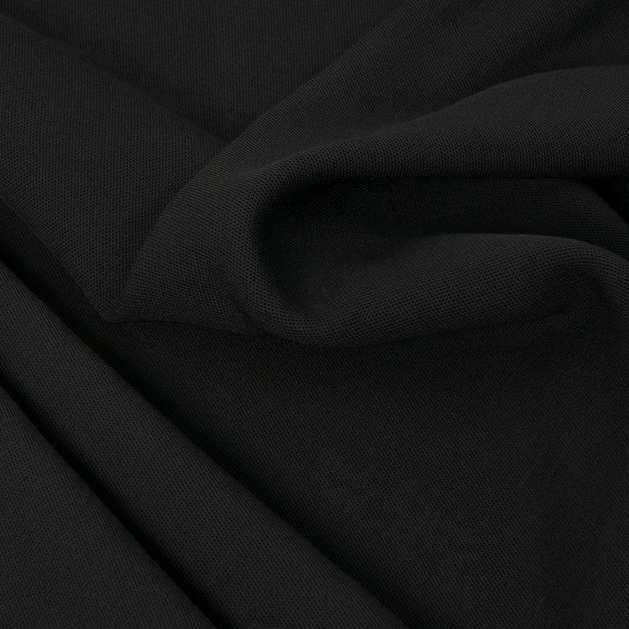 Black Wool Viscose Blended Fabric 1864 - Fabrics4Fashion