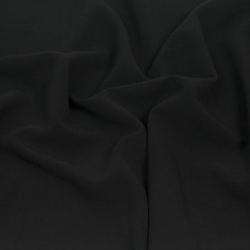 Black Doublewave Stretch Suiting Fabric 962 - Fabrics4Fashion