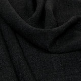 Black Melange Linen Fabric 965 - Fabrics4Fashion
