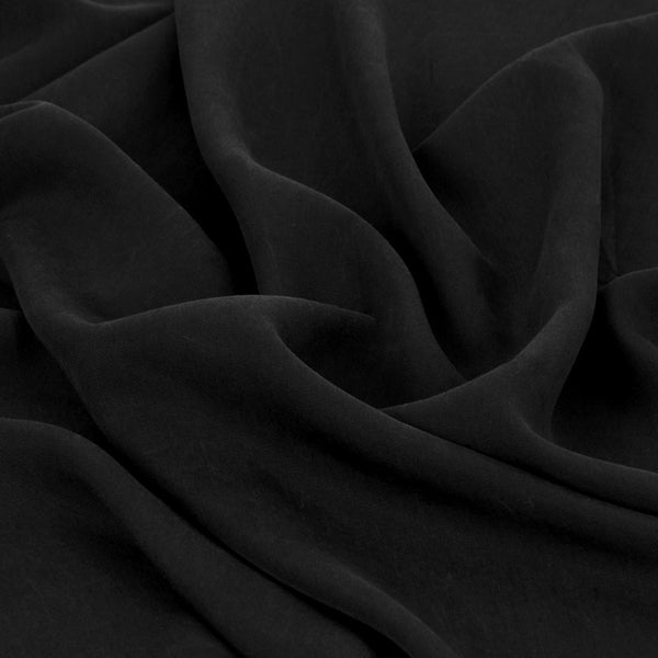 Black Lyocell Twill 26 - Fabrics4Fashion