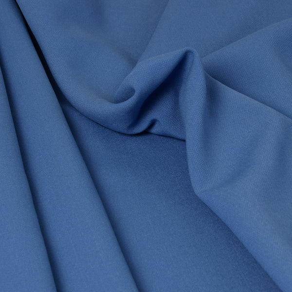 China Blue Doublewave Stretch Fabric 3303 - Fabrics4Fashion