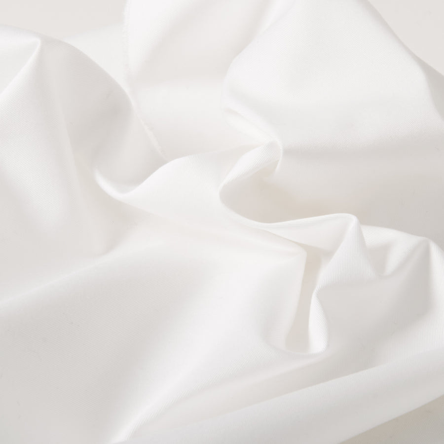 White Stretch Cotton Twill 3504Woven