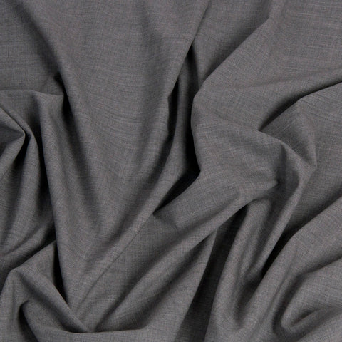 Melange Grey Stretch Suiting Wool 1450Woven