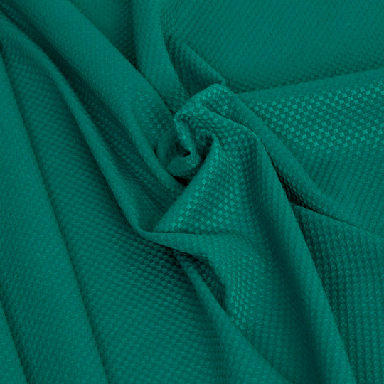 Aqua Green Cotton Stretch Jacquard 2008 - Fabrics4Fashion