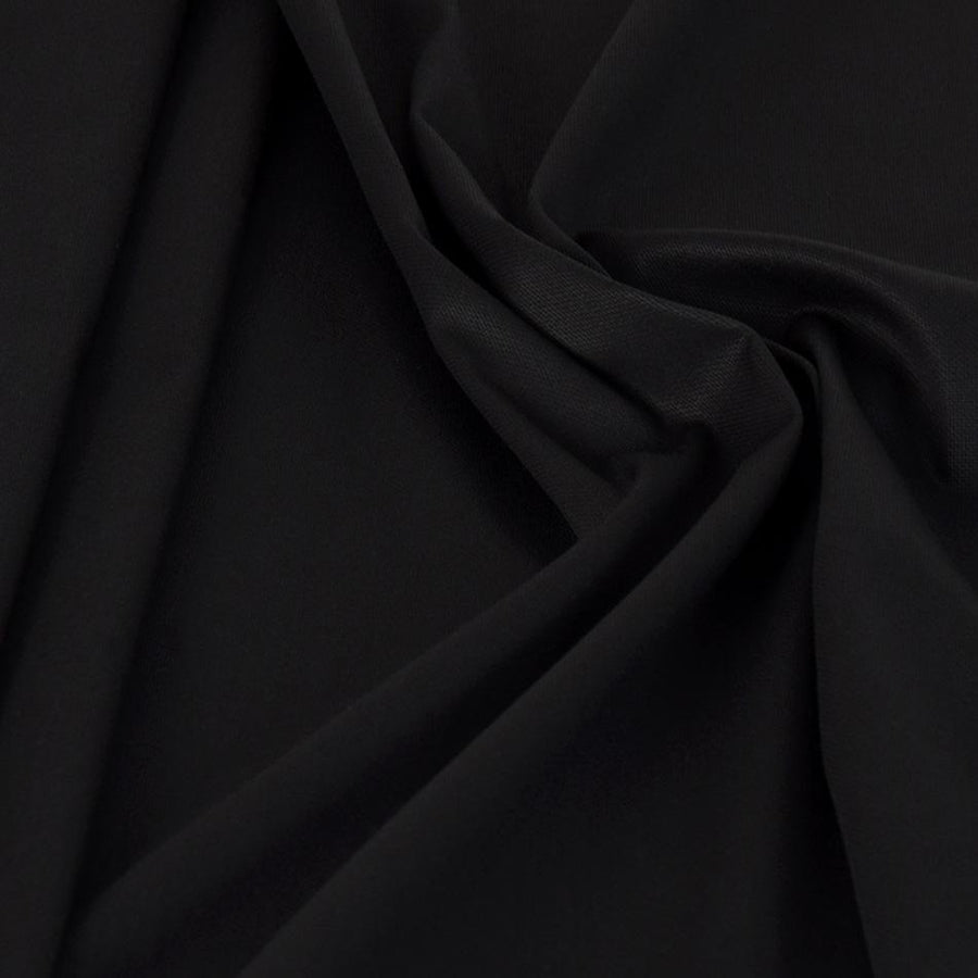 Black Cotton Stretch Pique Fabric 438 - Fabrics4Fashion