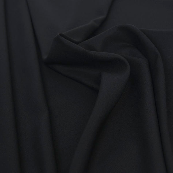 Black Stretch Crepe Backed Satin 1585 - Fabrics4Fashion
