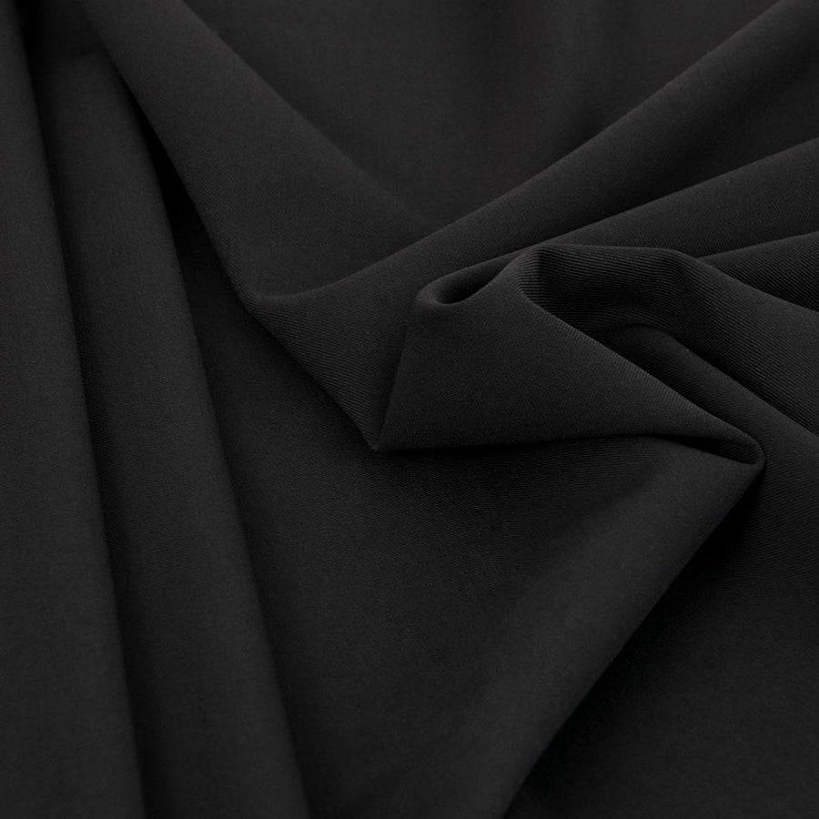 Black Stretch Suiting Wool 330 - Fabrics4Fashion