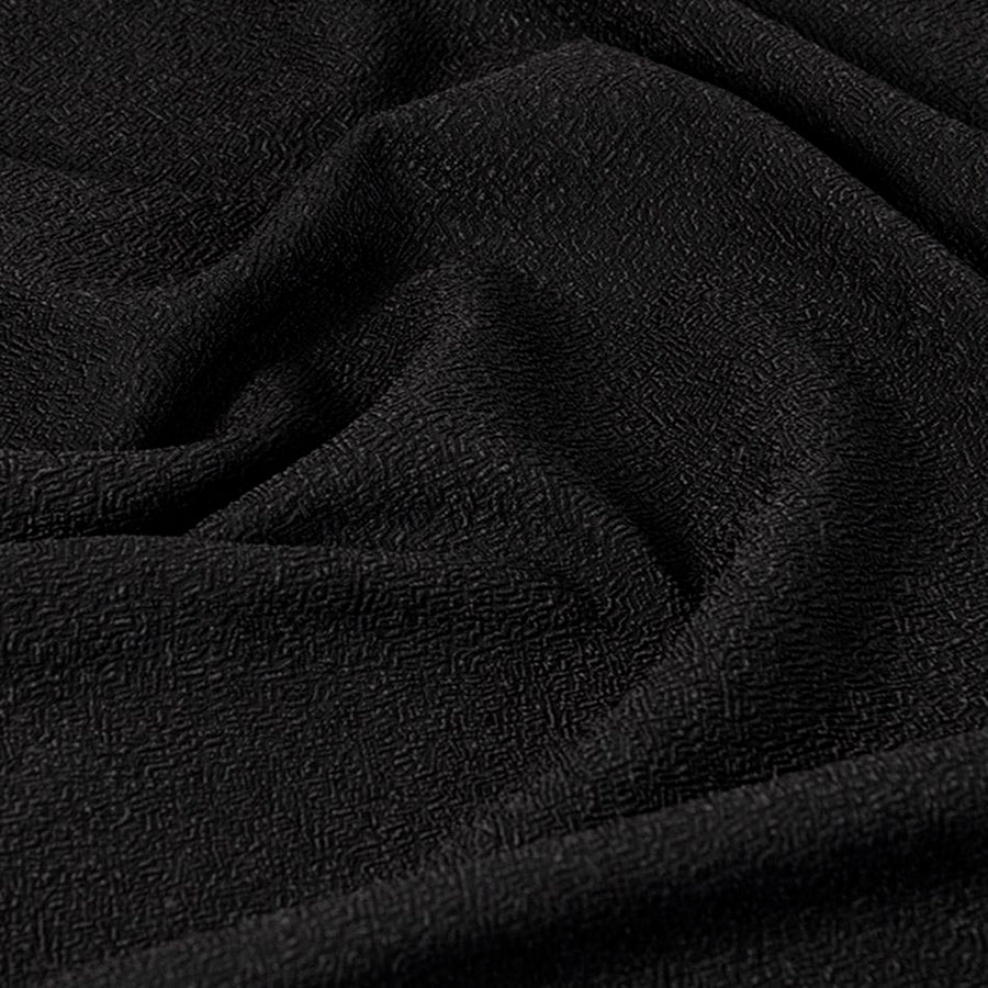 Black Stretch Textured Jacquard 5019 - Fabrics4Fashion