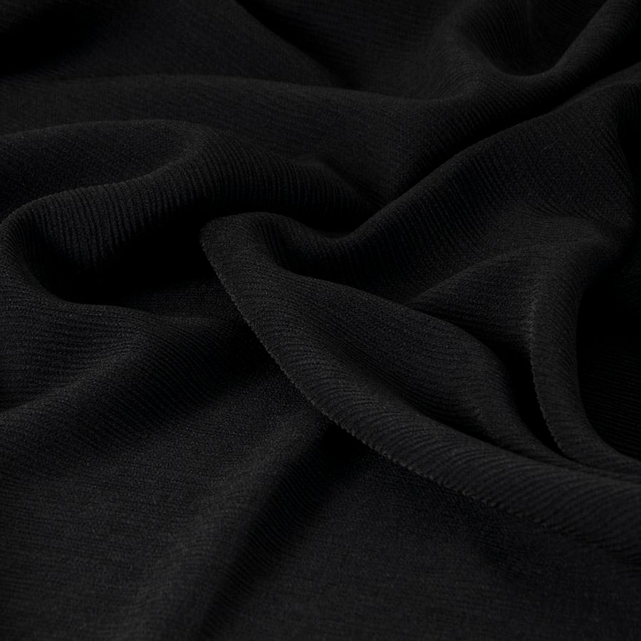Black Textured Stretch Poly 2554 - Fabrics4Fashion