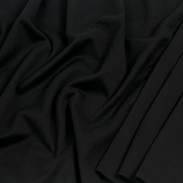 Black Virginwool Coating Velour 982 - Fabrics4Fashion