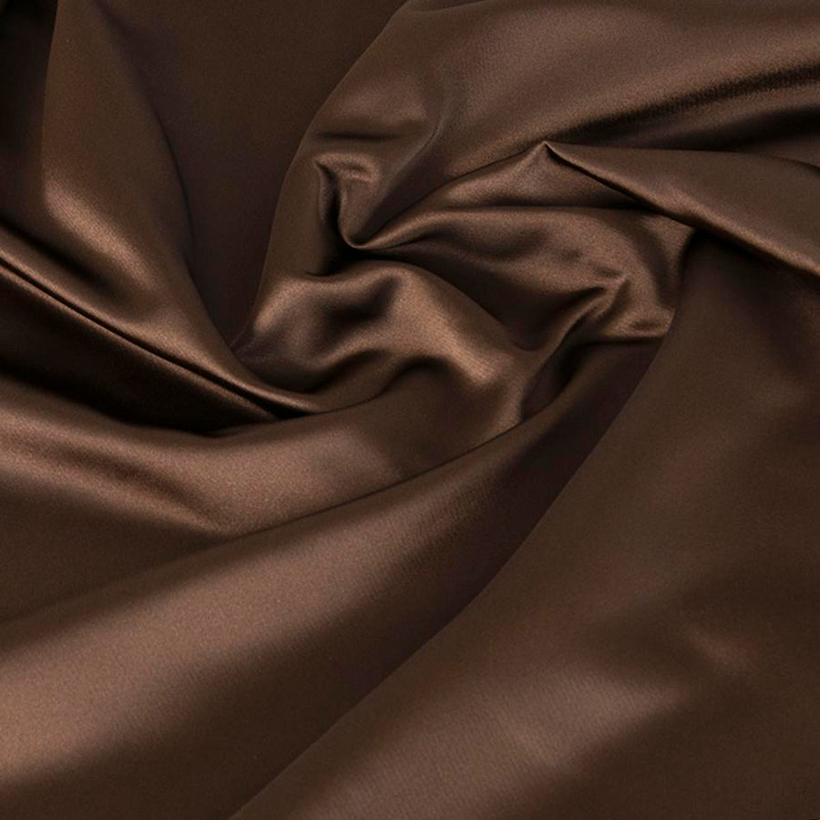 Brown Acetate Satin 4703 - Fabrics4Fashion