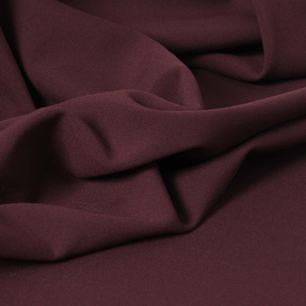 Burgundy Doublewave Stretch Fabric 3455 - Fabrics4Fashion