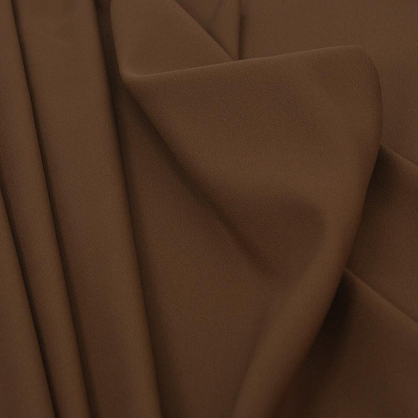 Camel Stretch Crepe Backed Satin 1540 - Fabrics4Fashion