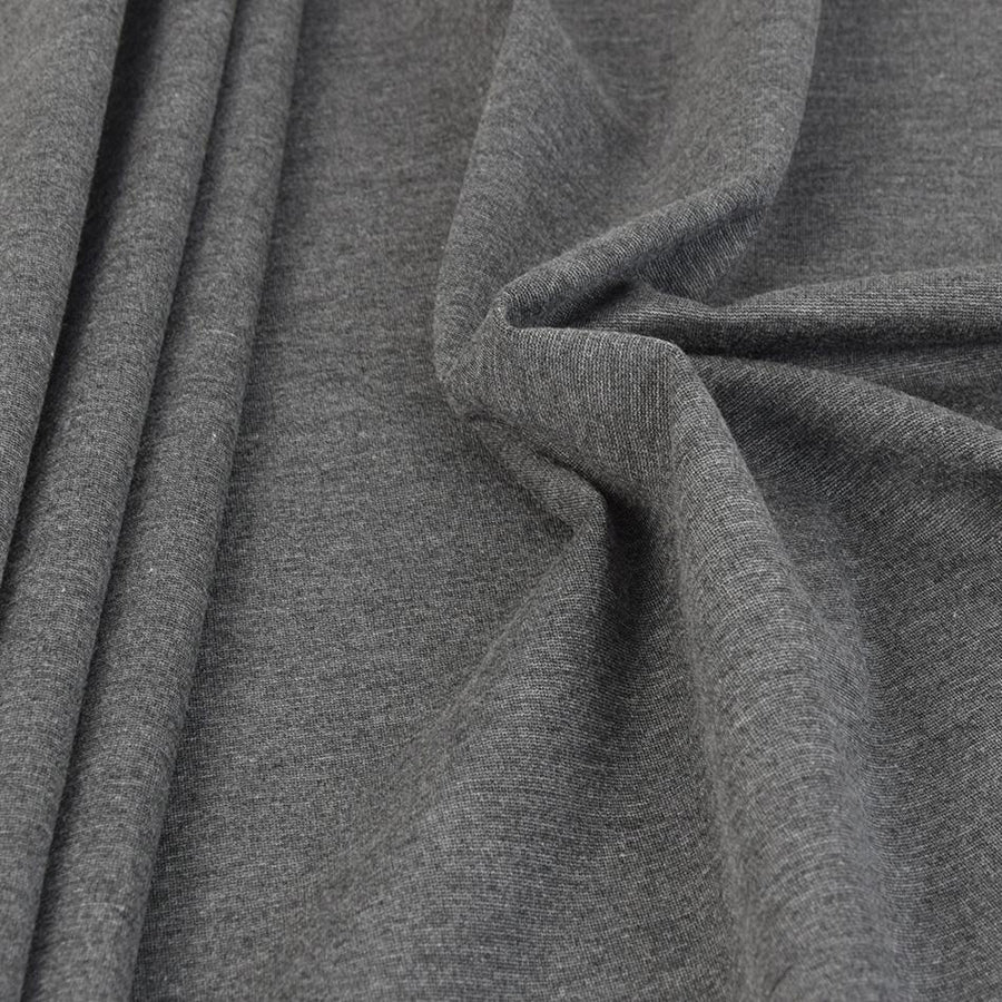 Charcoal Viscose Stretch Punto 561 - Fabrics4Fashion