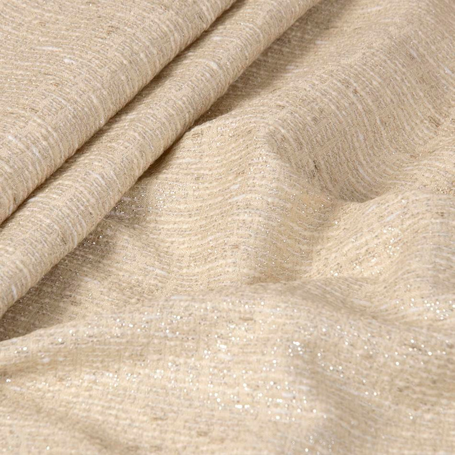 Cream & Silver Blended Tweed 2586 - Fabrics4Fashion