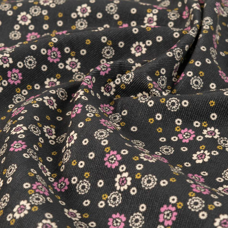 Fade Black Floral Print 2712 - Fabrics4Fashion