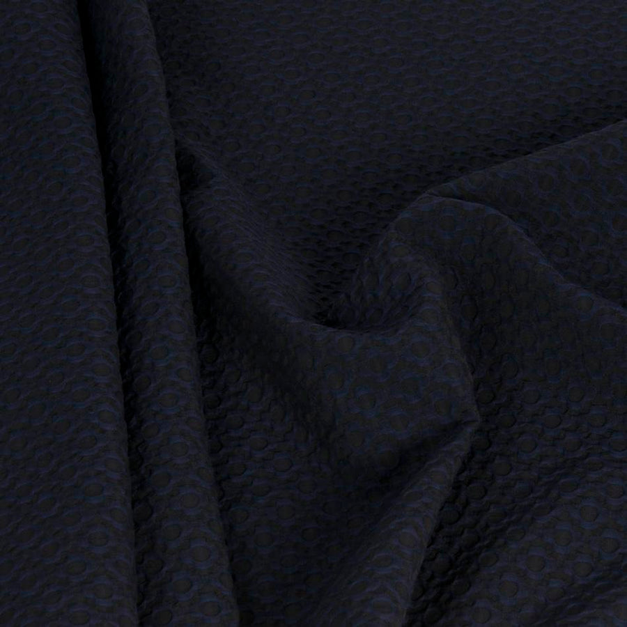 Geometric Midnight Blue Jacquard 1337