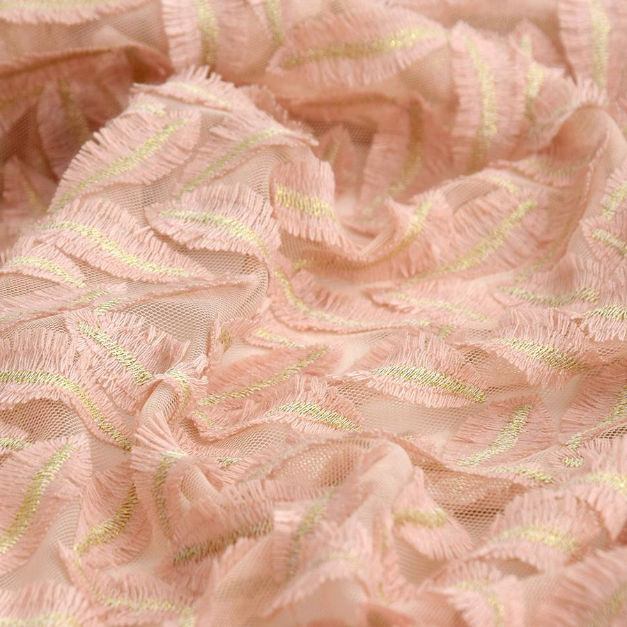 Gold & Pink Mesh Lace 5283 - Fabrics4Fashion