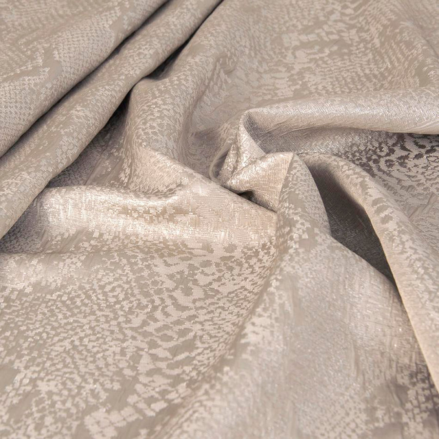Golden Beige Abstract Jacquard 2557 - Fabrics4Fashion