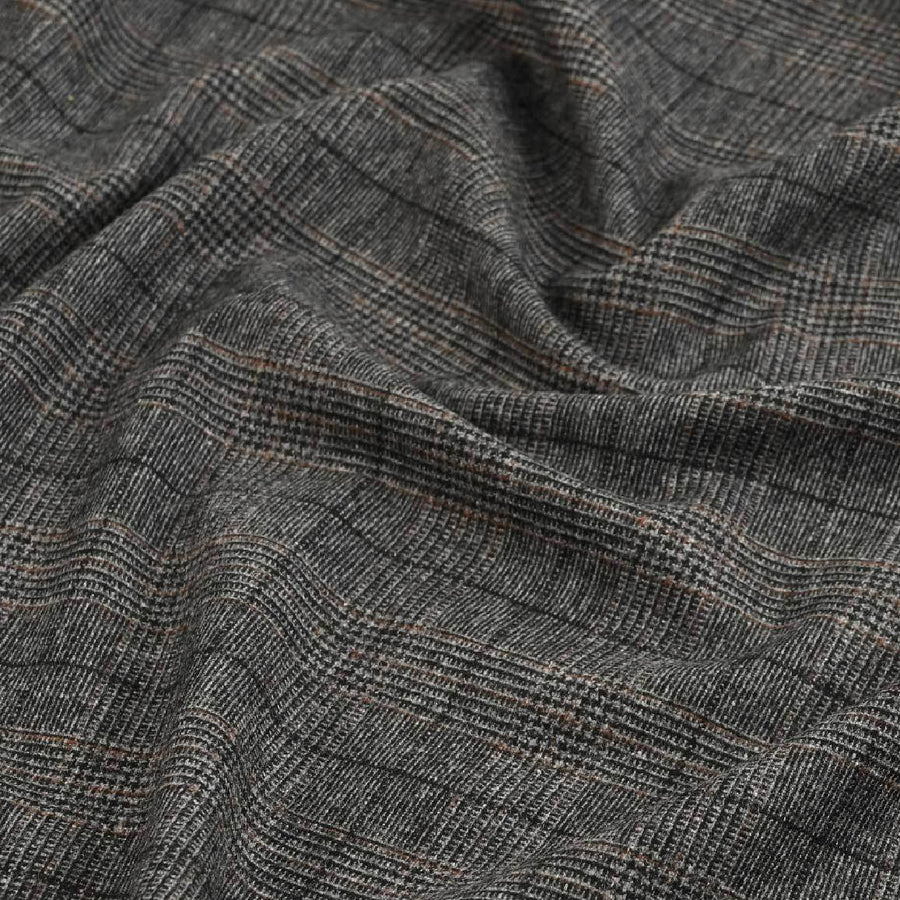 Grey Suiting Flannel 5566 - Fabrics4Fashion