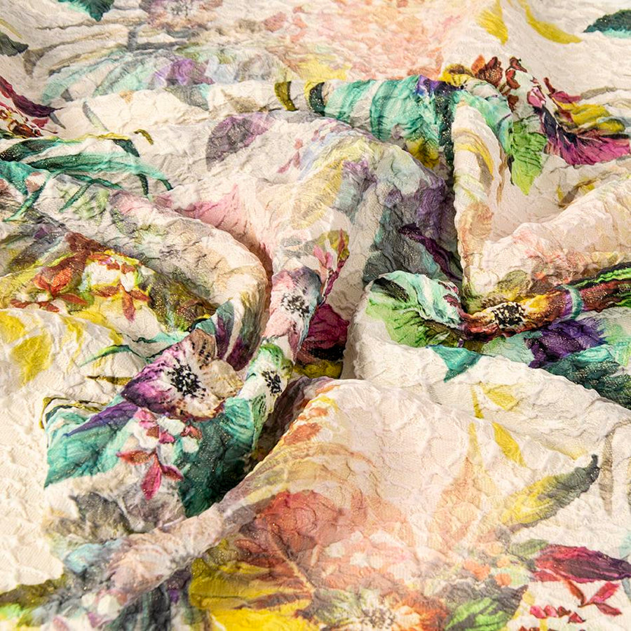 Multicoled Print Wrinkled Fabric 2064 - Fabrics4Fashion